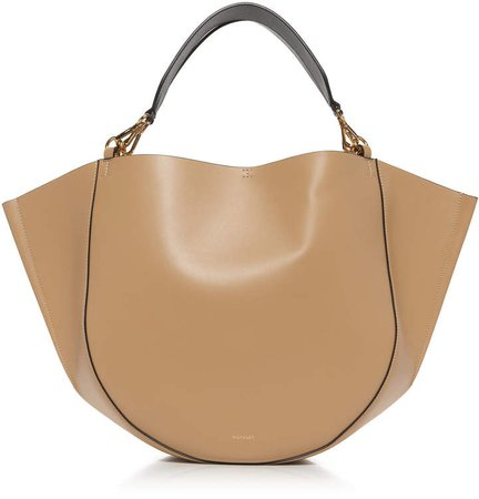 Mia Two-Tone Leather Tote