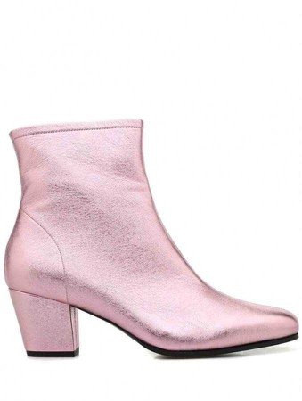 Alexa Chung Pink Leather Boots