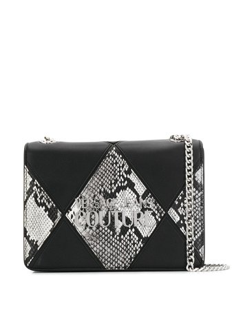 Versace Jeans Couture Snake Effect Chain Shoulder Bag - Farfetch