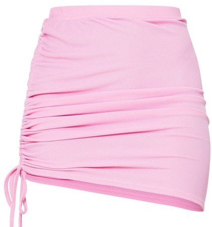 Pink Ruched Skirt