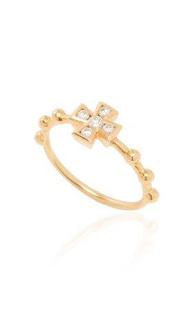 18K Gold And Diamond Ring by Rosa de la Cruz | Moda Operandi