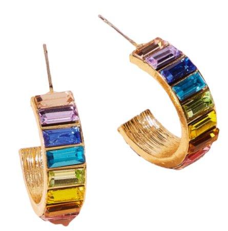 colorful rainbow earring