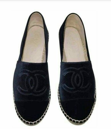Black Chanel Loafers Shoes
