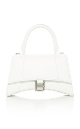 Hourglass Leather Top Handle Bag by Balenciaga | Moda Operandi