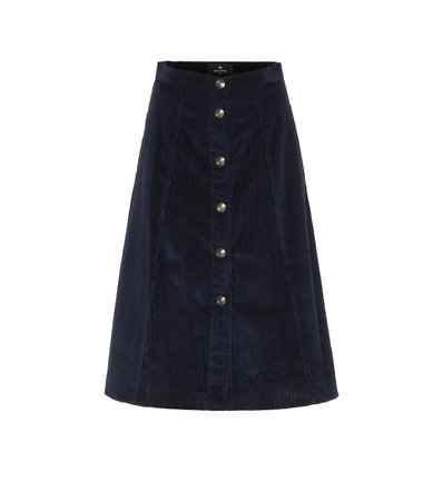 Corduroy Midi Skirt | Etro - Mytheresa
