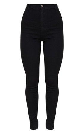 Black Disco Fit Skinny Jean | PrettyLittleThing USA