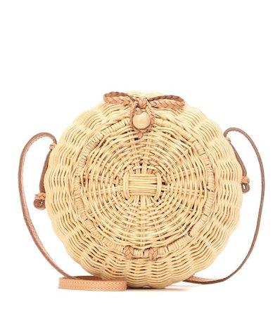 Pomme wicker shoulder bag