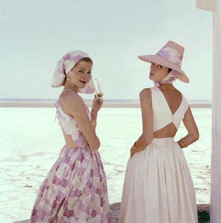 Models Wearing Summer Dresses Art Print by Sante Forlano