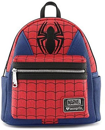Amazon.com | Loungefly x Marvel Spider-Man Suit Mini Faux Leather Backpack | Casual Daypacks