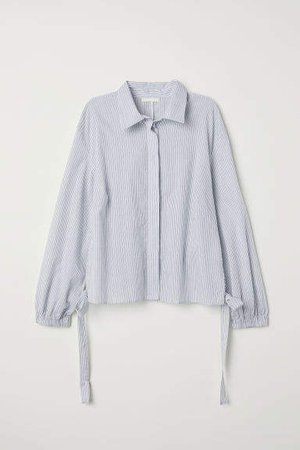 Drawstring blouse - White