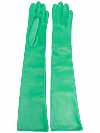 Manokhi leather opera gloves green AW21MANO88A330CLASSICSPRINGGREEN - Farfetch