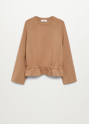 Sweater with ruffle detail - Woman | Mango Canada
