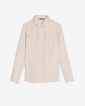 Button-up Military Shirt | Express