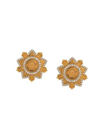 Versace Medusa Star Stud Earrings