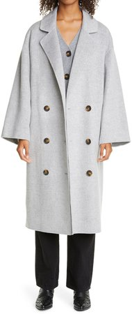 Double Breasted Wool & Cashmere Coat