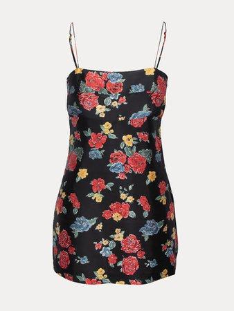 The Christy | 90's Floral Silk Mini Dress | Réalisation Par