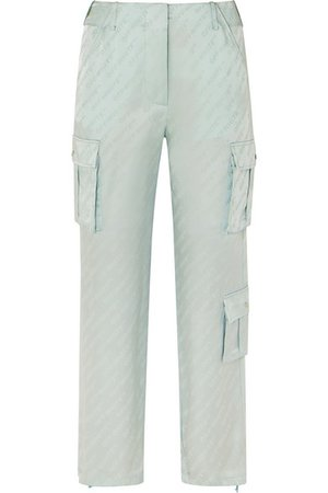Off-White | Satin-jacquard straight-leg pants | NET-A-PORTER.COM