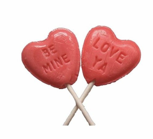 Heart lollipops