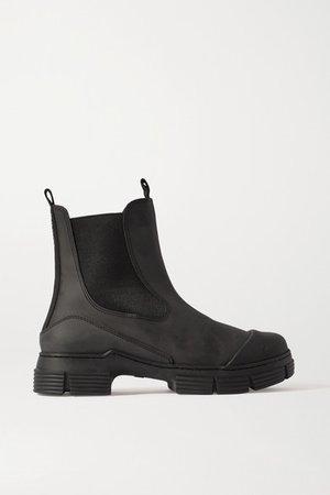Rubber Chelsea Boots - Black