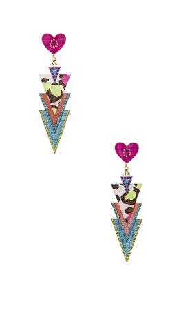 Mercedes Salazar Curubas Petite Earrings in Pink & Blue | REVOLVE