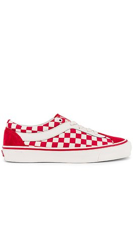 Vans Era Bold Checkered Sneaker in Racing Red & Marshmallow | REVOLVE