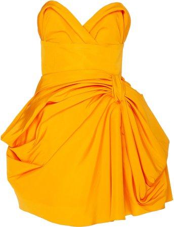 carolina-herrera-bow-embellished-silk-poplin-mini-dress.jpg (688×900)