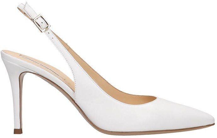 Pumps In White Leather