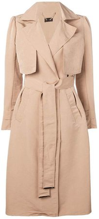 side buttoned trench coat