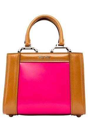 pink brown miumiu bag