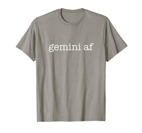 Gemini AF June Birthday Zodiac Pride Astrology T Shirt