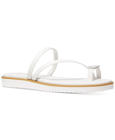 Michael Kors Letty Thong Sandals & Reviews - Sandals - Shoes - Macy's white
