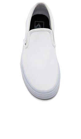 Vans Slip-On in White | REVOLVE