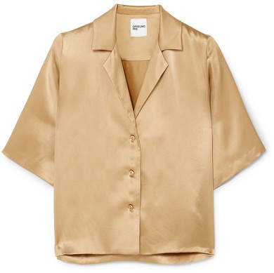 Le Funk Silk-satin Shirt - Camel