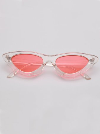 Tinted Lens Cat Eye Sunglasses | SHEIN USA