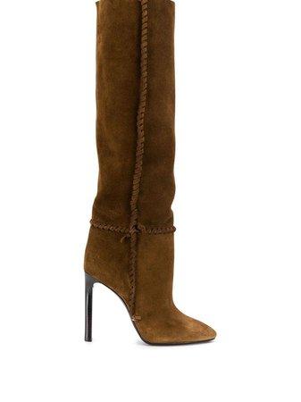 Saint Laurent Mica Suede Boots | Farfetch.com
