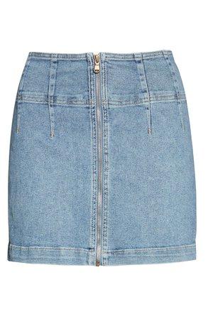Free People Virgo Denim Miniskirt