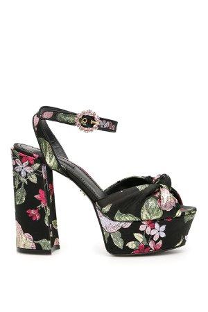 Dolce & Gabbana Floral Jacquard Keira Sandals