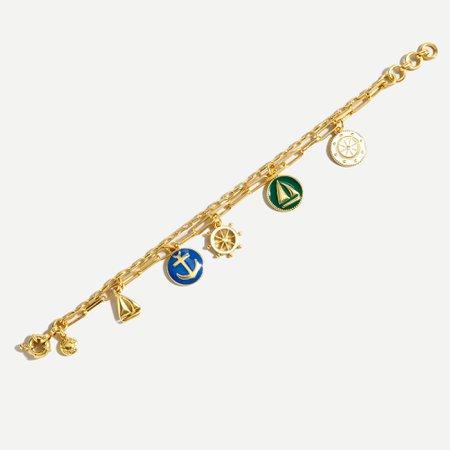 J.Crew: Nautical Charm Bracelet For Women