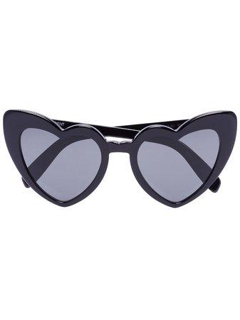 Saint Laurent Eyewear Loulou Heart Sunglasses - Farfetch