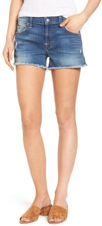 High Waist Cutoff Denim Shorts