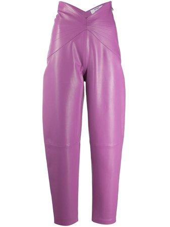 The Attico X Antonia Dallas High-Waisted Trousers 201WCP06L001 Purple | Farfetch