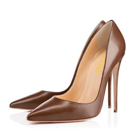 Brown high heels 1