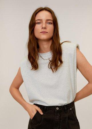 Shoulder pad t-shirt - Women | Mango USA