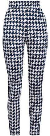 Jaffa Houndstooth Stretch-jersey Skinny Pants