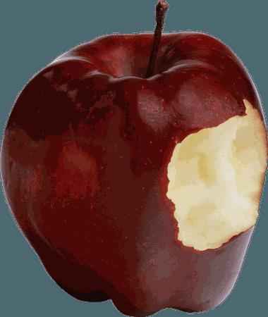 bitten apple png - Google Search