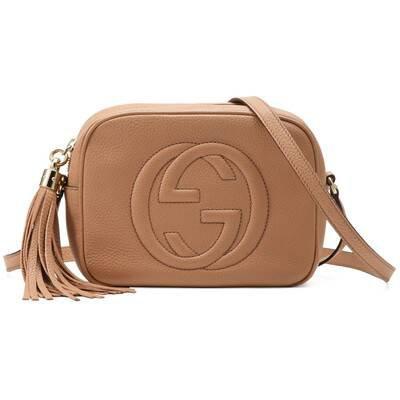 Rose Beige Leather Soho Small Disco Bag | GUCCI® AU