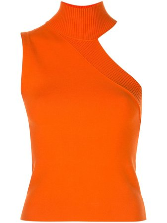 Alice+Olivia Kiki Asymmetric Knit Tank Top CC002525715 Orange | Farfetch