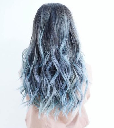 icy light blue hair