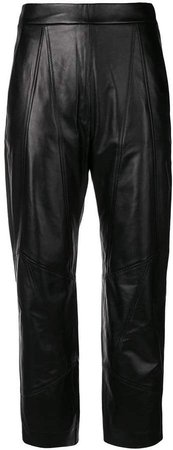 stitched panel trousers