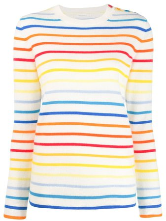 Chinti & Parker Rainbow Striped Sweater
